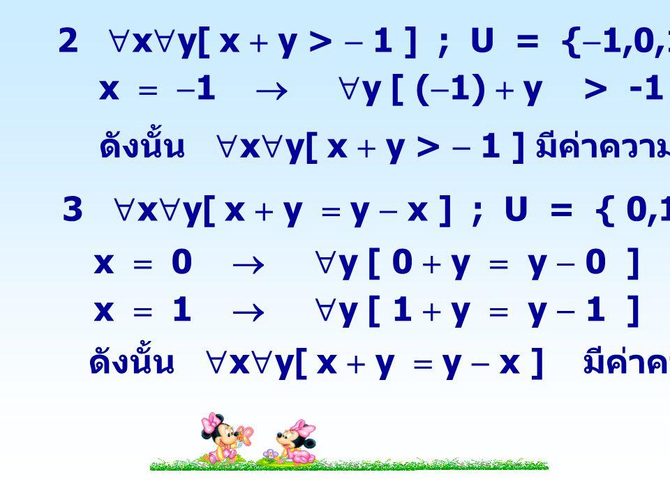 2 xy[ x  y >  1 ] ; U = {1,0,1}